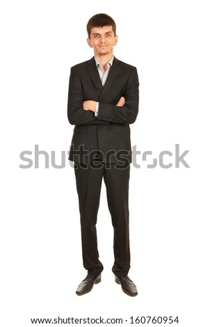 Full length pf business man isolated on white background