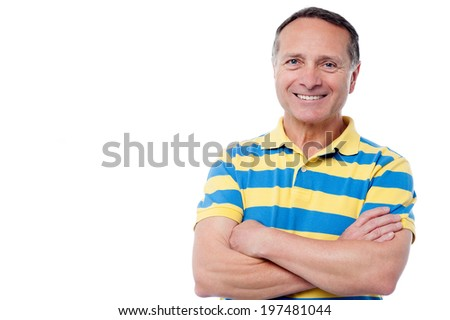 Full length portrait of a casual dressed man over white - stock photo