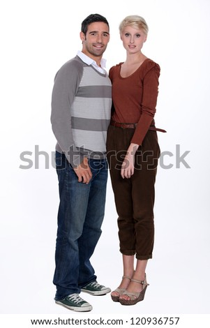 Full length portrait of a couple