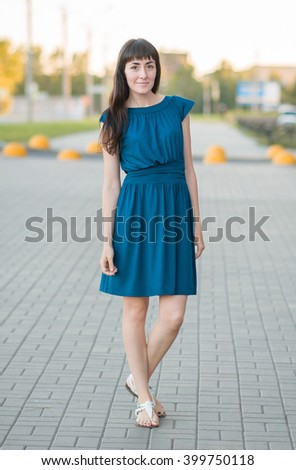 Full Length Portrait of a Girl