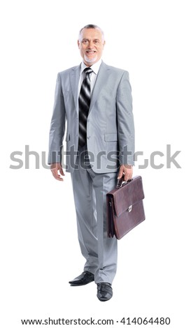 Full length portrait of a successful mature business man