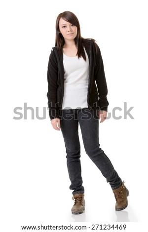 full length portrait asian girl stand stock photo edit now