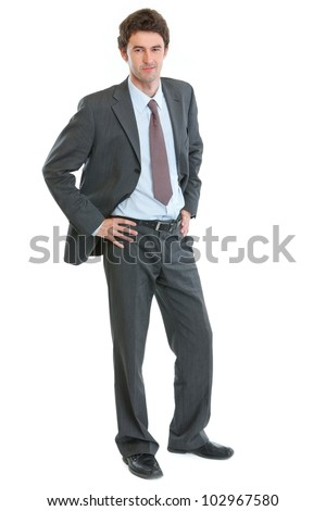 Full length portrait of modern businessman
