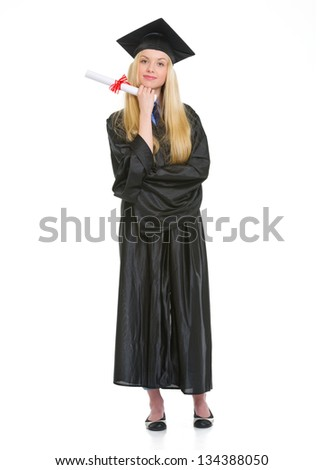Full Length Portrait Young Woman Graduation Stock Photo 134388050 ...