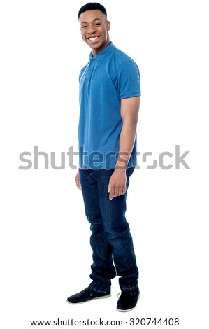 Full length shot of a young guy - stock photo
