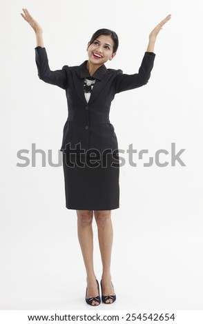 full llength of the business woman - stock photo