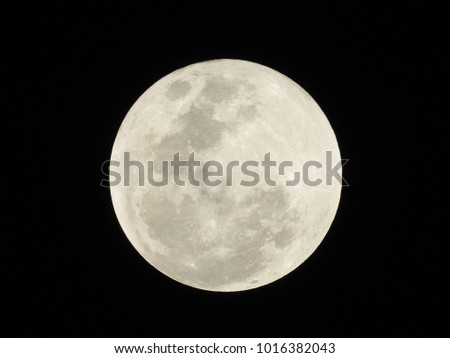 Full Moon after Lunar eclipse on 31st Dec 2018 at 22:53 IST, Vadodara, Gujarat State, India