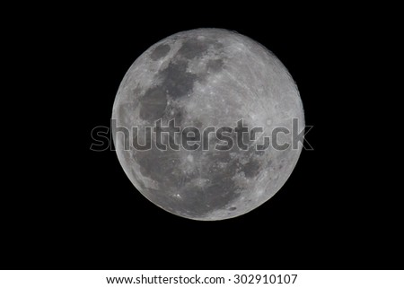 Full moon as seen from South Africa on 31 August 2015 making it a blue moon