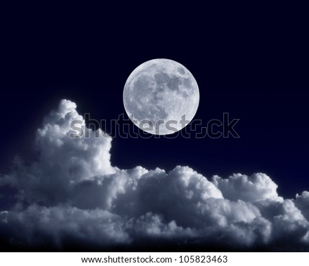 Full moon at its perigee during the supermoon of May 5, 2012