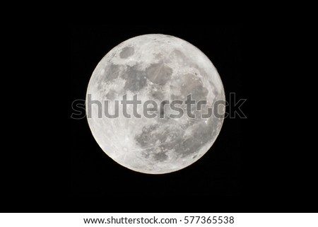 Full moon at largest also called supermoon