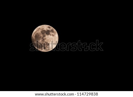 Full moon closeup showing the details of the lunar surface.As seen from Varna,Bulgaria on 05 May 2012 - stock photo