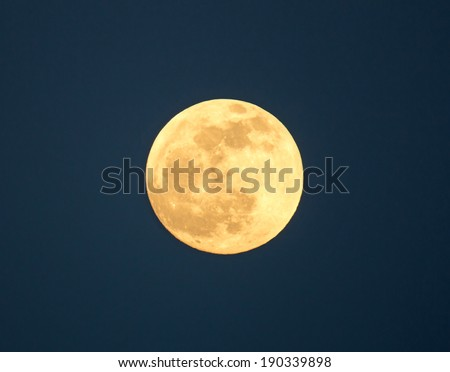 Full moon during evening - stock photo