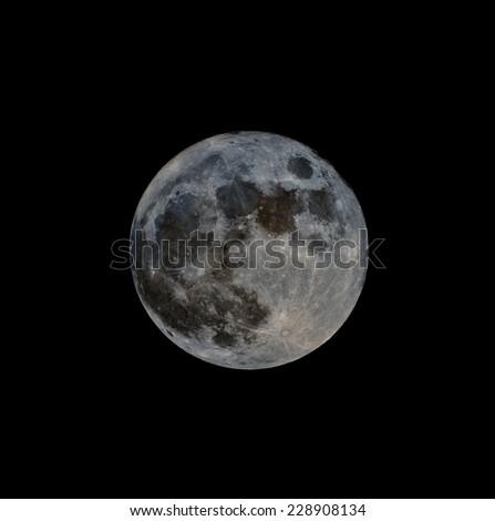 Full Moon Imaged in Narrow Band - stock photo