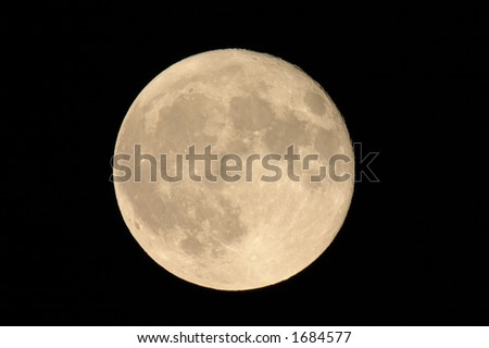 Full Moon in August - stock photo