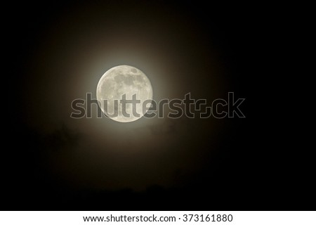 Full moon in dark night