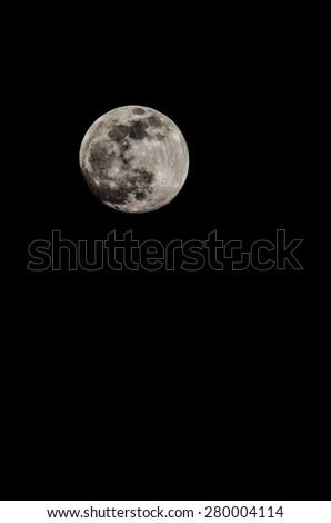 Full Moon in Tenerife Canary Islands Spain - stock photo