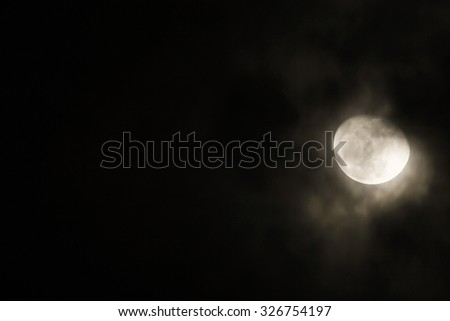 Full moon in the cloud