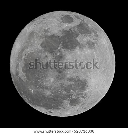 Full moon on a black  background.