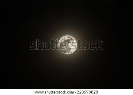 Full Moon on 6 Nov 2014 - stock photo