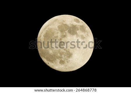 Full moon on the black background. close-up - stock photo