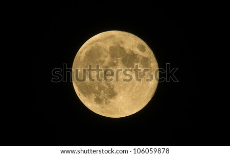 Full moon on the black background sabato 9 -6-2012 10.10.26 - stock photo