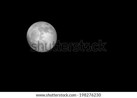Full moon  Photographed from the British Isles on the 6th Feb 2012