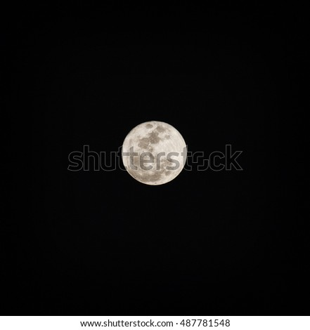 Full moon seen from Cuba with surface detail