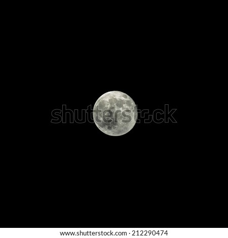 Full Moon with Black Background isolated - stock photo