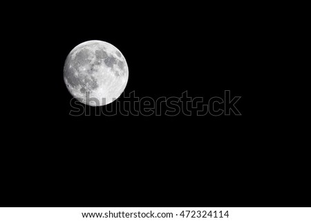full moon with in black summer sky, shot from southern california