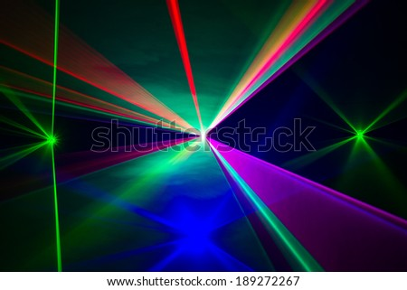 Full Spectrum of laser beams in all colors