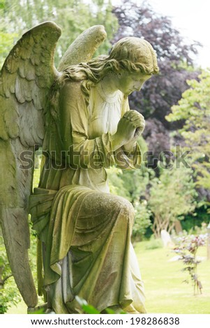 full stone angel - stock photo
