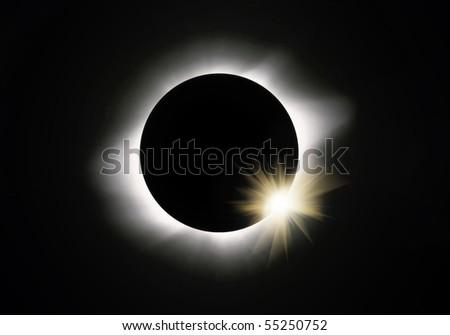 Full sun eclipse - stock photo