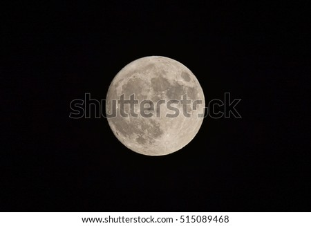 Full Super Moon (photographed on Nov 13, 2016)