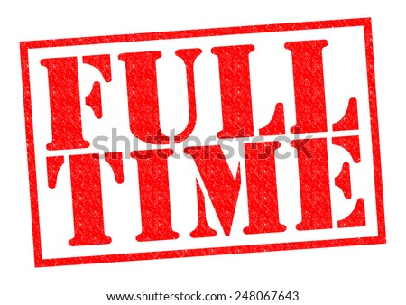 FULL-TIME red Rubber Stamp over a white background.