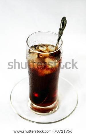 Full view of ice glass of coffee (traditional coffee in Vietnam)
