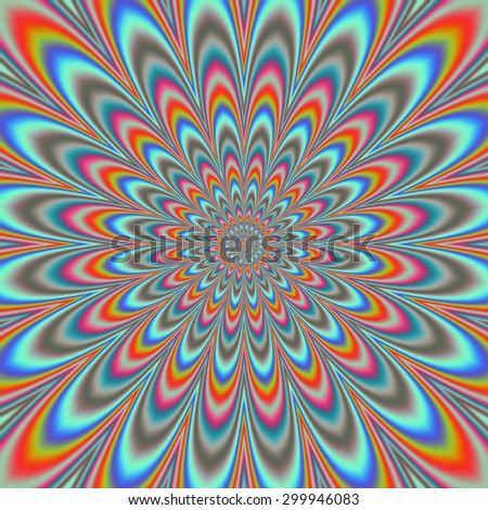 Fullscreen generated symmetrical psychedelic eyecatching flower