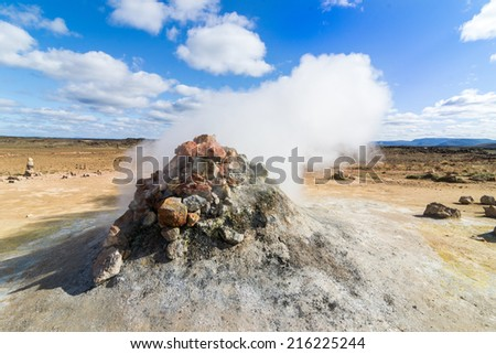 Fumarole - stock photo