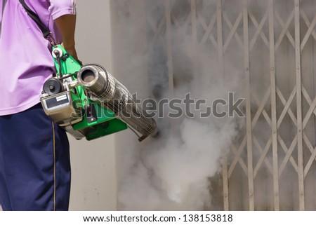 Fumigate mosquito-killing to prevent disease - stock photo