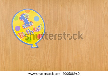 Fun and colourful party decorations for first birthdays. - stock photo