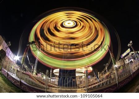 Fun at night - stock photo
