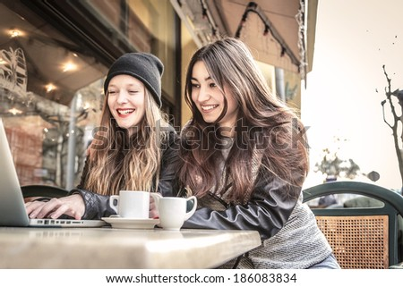 fun between friends - stock photo