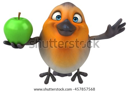 Fun bird - stock photo