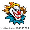 Fun circus clown in cartoon style for humor entertainment design. Vector version also available in gallery - stock photo