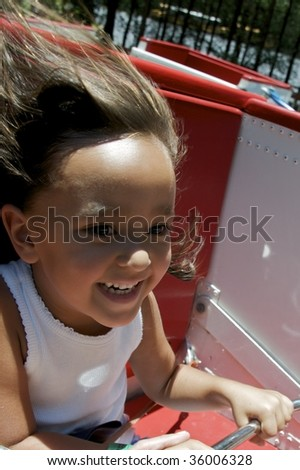 Fun filled day at the Amusement Park - stock photo