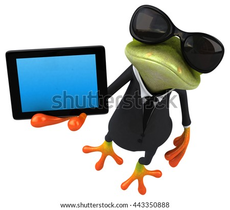 Fun frog - stock photo