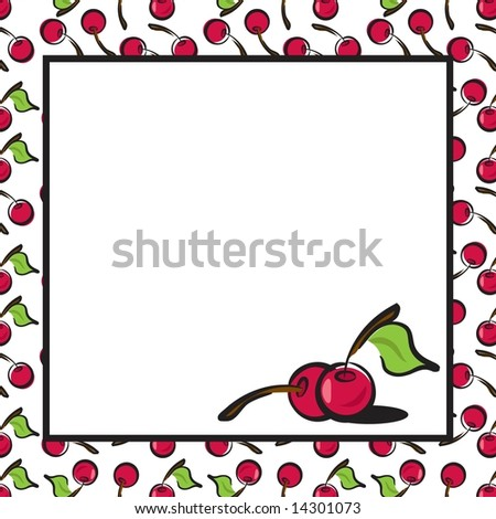 Fun Fruits cherry page layout in JPEG/TIFF format. (Image ID for vector version: 14214337) - stock photo