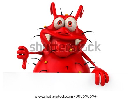 Fun germ - stock photo