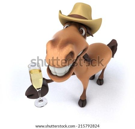 Fun horse - stock photo