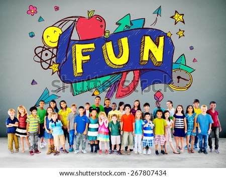 Fun Joy Smiley Stationery Education Concept - stock photo