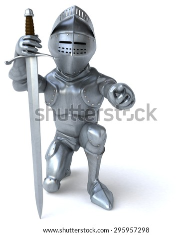 Fun knight - stock photo